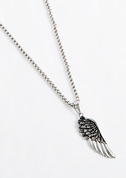 Angel Wing Box Chain Necklace