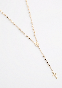 Ball Chain Rosary Necklace
