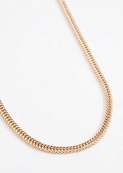 Gold Tone Curb Link Necklace