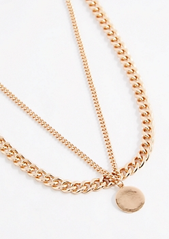 Wheat Chain Pendant Necklace Set