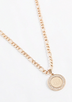 Diamante Symbol Medallion Necklace