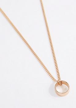 Barrel Ring Pendant Necklace