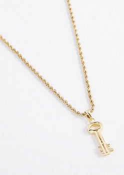 3D Skeleton Key Necklace