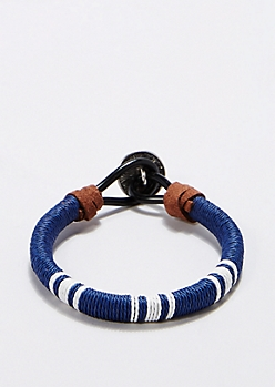 Blue Tribal Wish Bracelet