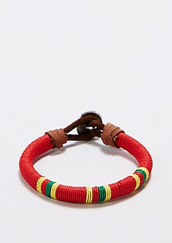 Red Tribal Wish Bracelet