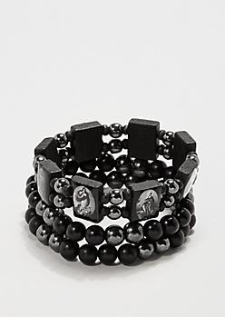 Beaded Saints Bracelet Set