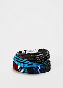 Braided Cluster Bracelet Set