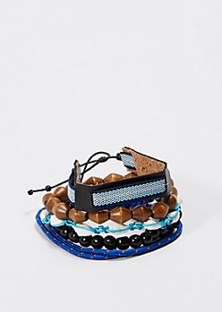 Mini Conch Shell Bracelet Set