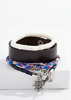 Nautical Cuff Bracelet Set
