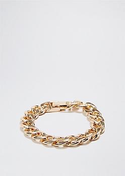 High Roller Faux Gold Bracelet