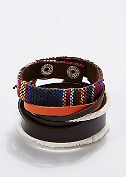 Tribal Woven Band Bracelet Set