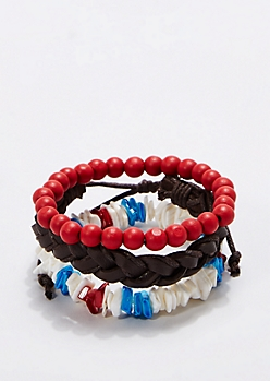 Primary Puka Bracelet Set