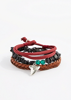 Shark Tooth Puka Bracelet Set