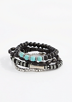 Turquoise Beaded Multi-Bracelet Set