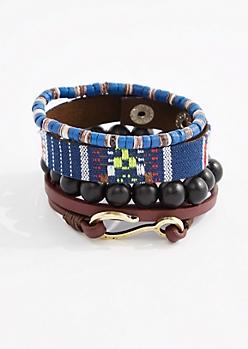 Navy Loom Bracelet Set
