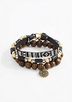 Medallion Loom & Beaded Bracelet Set