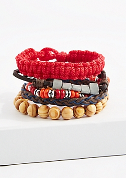 Red Paracord Bracelet Set