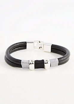 Vegan Leather Rope Bracelet