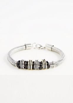 Beaded Snake Chain Bracelet