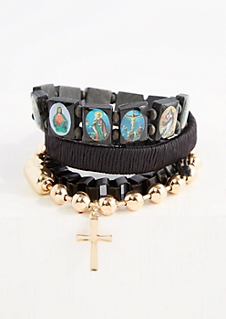 Beaded Saints Bracelet Set