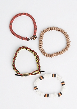 Island Beaded & Braided Bracelet Set