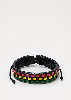Rasta Woven Bracelet