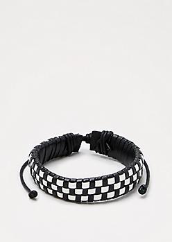 Black & White Woven Bracelet