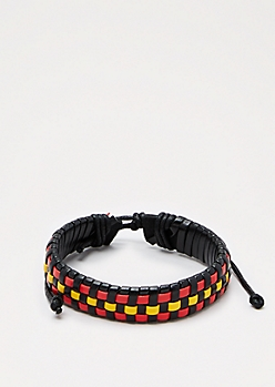 Red & Yellow Woven Bracelet