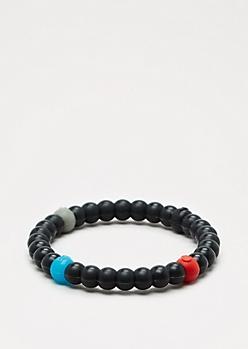 Black Circle Elements Bracelet