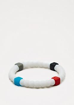 White Squared Elements Bracelet