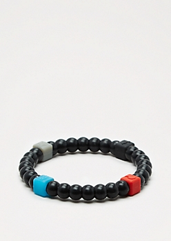 Black Squared Elements Bracelet