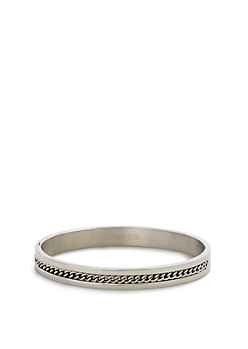 Chain Inset Cuff Bangle