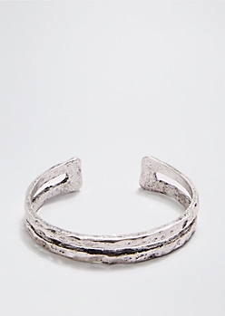 Hammered Metallic Cuff