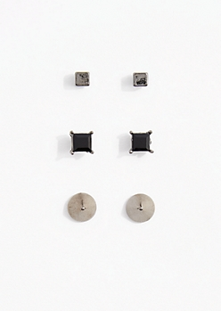 Stones & Spikes Stud Earring Set