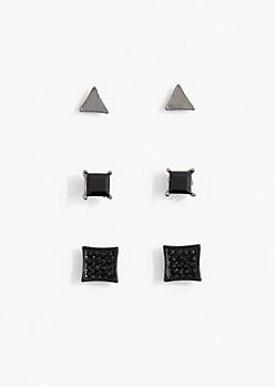 Geo Stone Stud Earring Set
