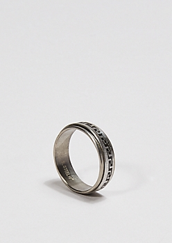 Greek Border Spinner Ring