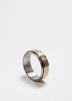 Two-Toned Spinner Ring