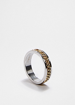 Two-Toned Chain-Link Ring