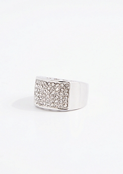 Pave Grid Ring