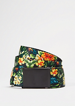 Tropical Escape Webbed Belt
