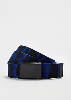 Blue Camo Webbed Belt