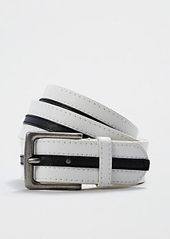 Stitched Racing Stripe Belt