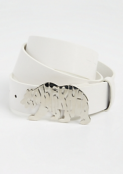 White Cali Republic Bear Belt