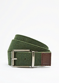 Reversible Green & Brown Belt