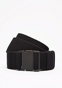 Black Chevron Webbed Elastic Belt