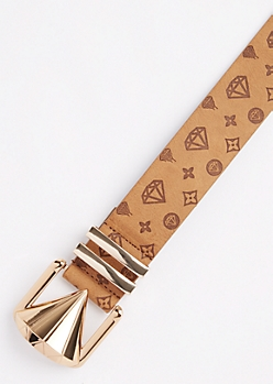Brown Diamond Monogrammed Belt