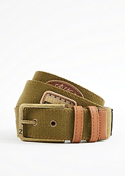 Military Patched Webbed Belt