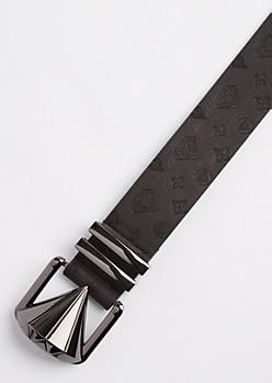 Black Diamond Monogrammed Belt