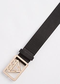 Black Diamond Shaped Belt
