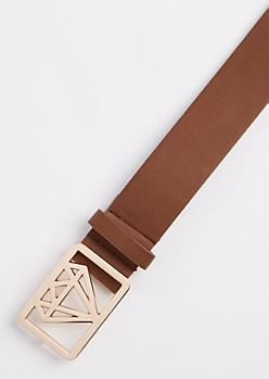 Brown Diamond Shaped Belt